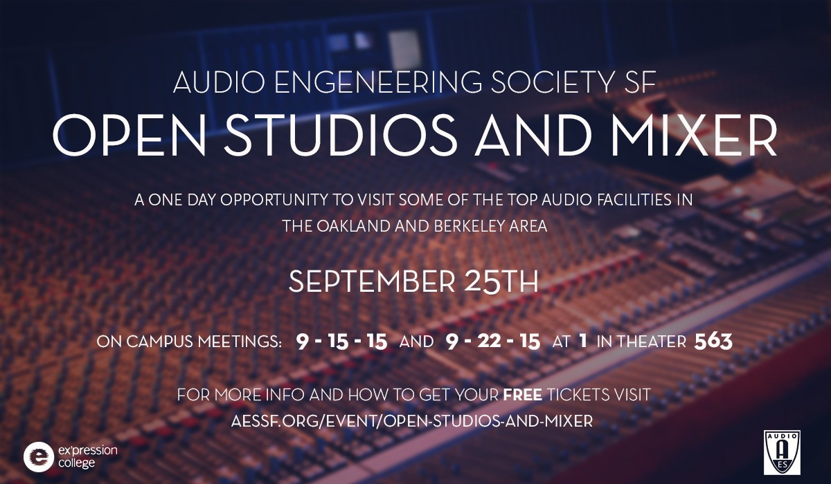 AES Open Studio and Mixer Slide