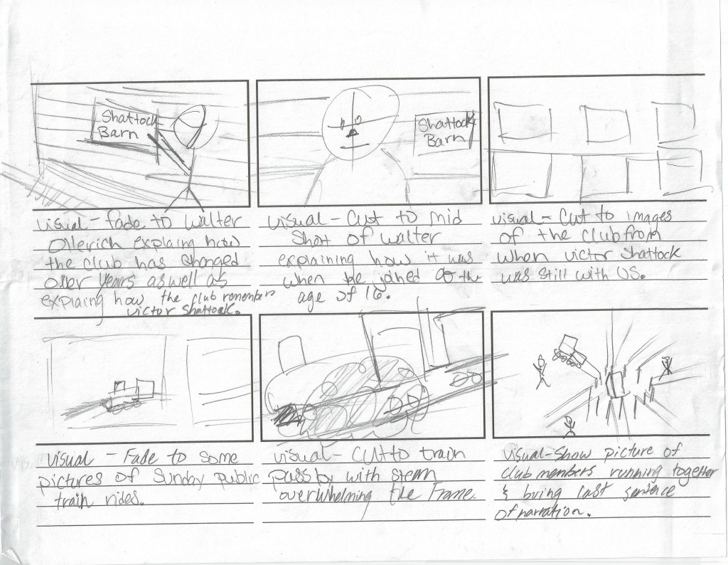 StoryBoard Sheet Three