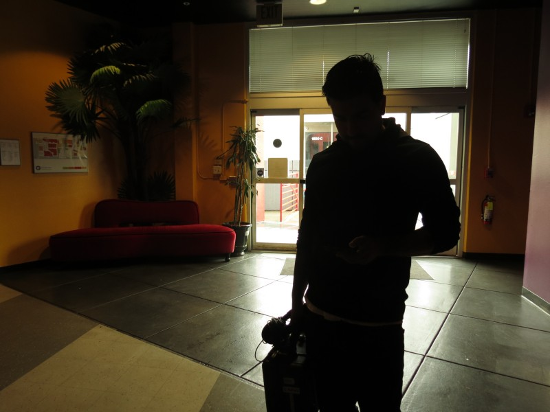 This is the silhouette of Mustafa in the lobby