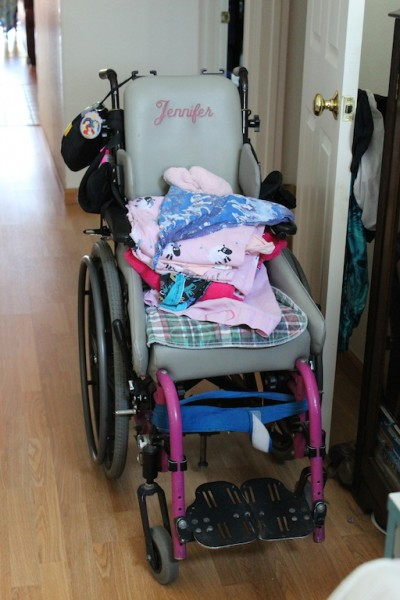 My sister Jenny's wheelchair