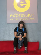 Me in the front lobby of Ex'pression College
