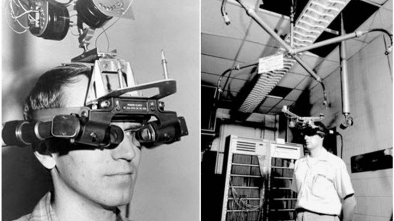 The Sword of Damocles VR device. Very uncomfortable, and very impractical in terms of size and use. However, I do not believe this was being developed with the intention of commercializing it, merely to experiment.