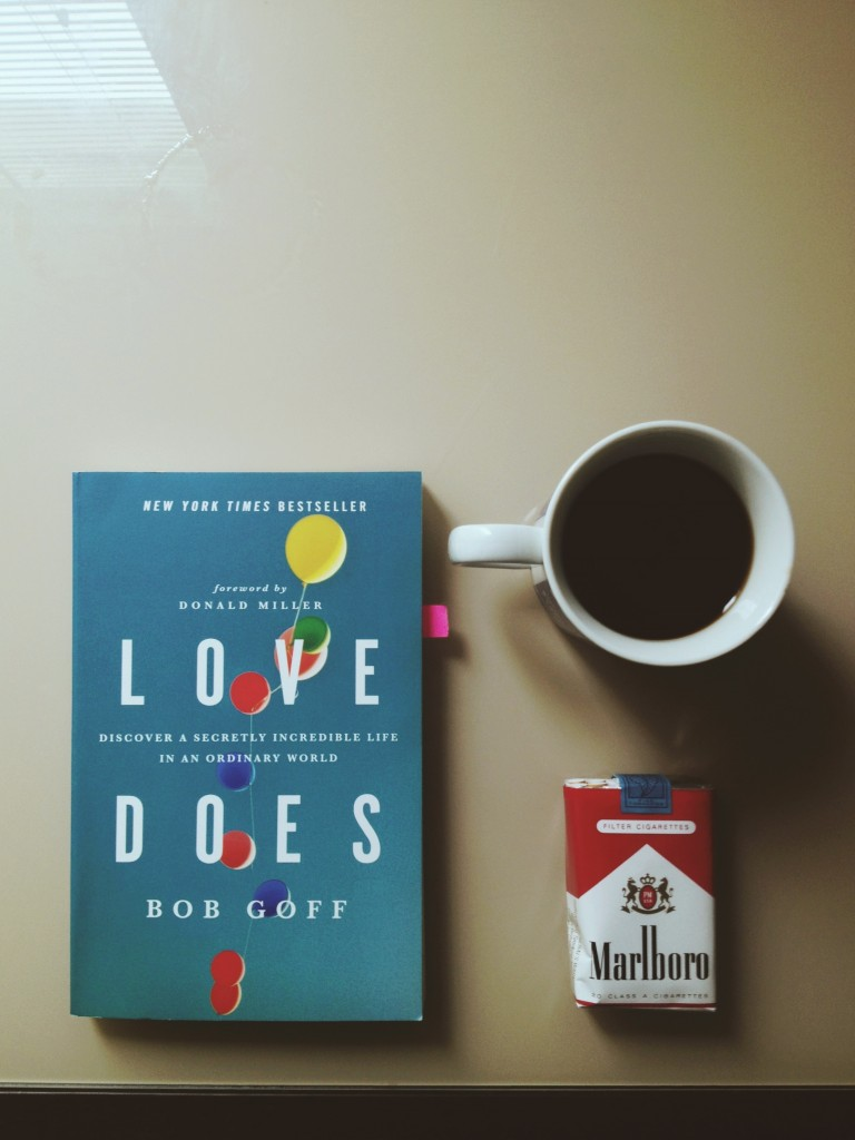 A good book, a cup of coffee, and a pack of smokes goes a long way